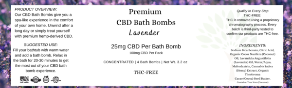 Bath Bomb Label